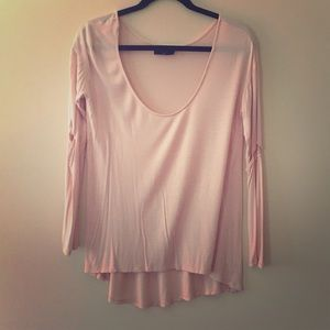 Nasty Gal Pink Long Sleeved Shirt